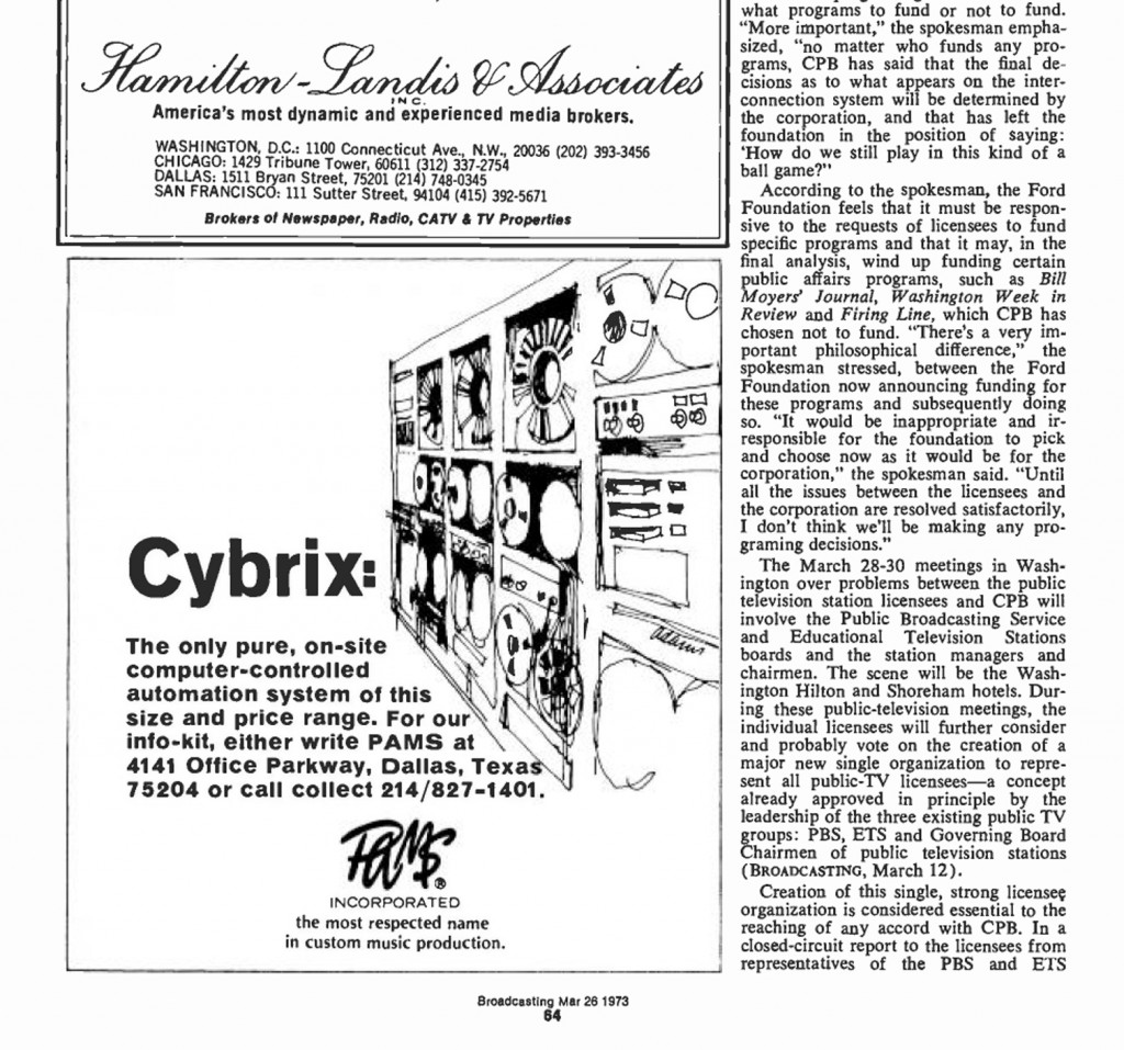 PAMS - Advertentie Cybrix 26.03.1973