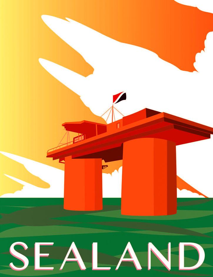 Sealand - Travel Poster