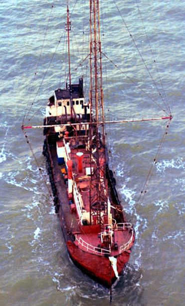 Radio Caroline 1978 (photo David Kindred)
